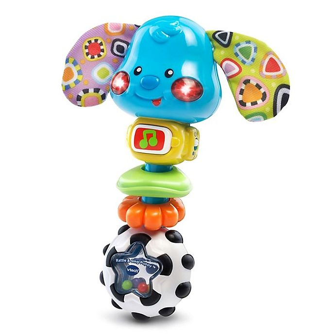 Alternate image 1 for VTech Rattle & Sing Puppy in Blue