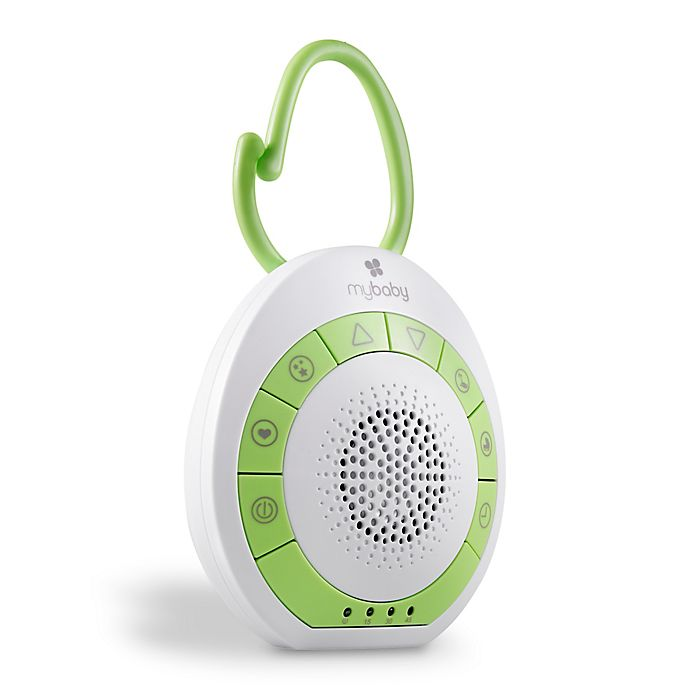 Alternate image 1 for HoMedics® MyBaby On-the-Go SoundSpa in White/Green
