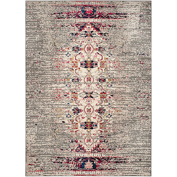 Alternate image 1 for Safavieh Monaco Timeo 6-Foot 7-Inch x 9-Foot 2-Inch Area Rug in Grey/Ivory