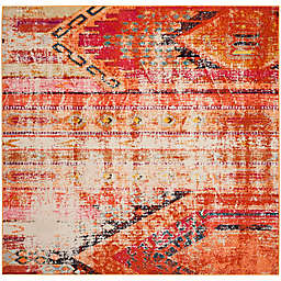 Safavieh Monaco Nayva 6-Foot 7-Inch Square Area Rug in Orange