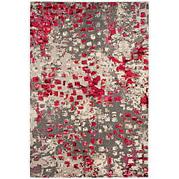 Safavieh Monaco 2'2 x 4' Accent Rug in Grey Fuchsia