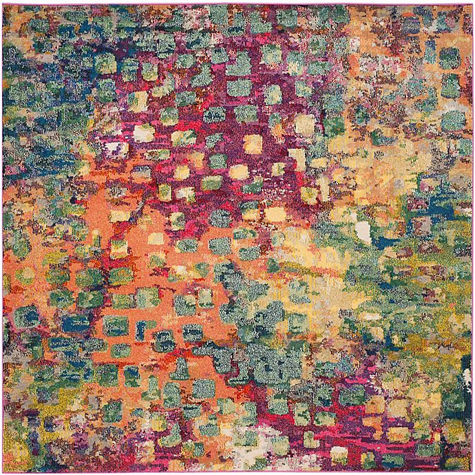 Alternate image 1 for Safavieh Monaco Watercolor 9-Foot Square Area Rug in Pink