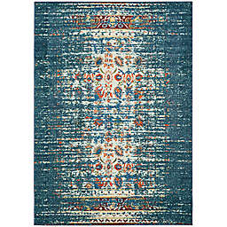 Safavieh Monaco Abstract 3-Foot x 5-Foot Area Rug in Blue/Ivory