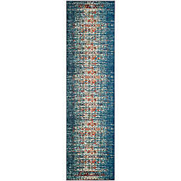 Safavieh Monaco Abstract 2-Foot 2-Inch x 8-Foot Runner in Blue/Ivory