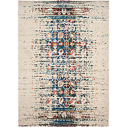 Safavieh Monaco Abstract 4-Foot x 5-Foot 7-Inch Area Rug in Ivory/Blue