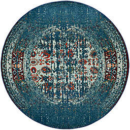 Safavieh Monaco Abstract 6-Foot 7-Inch Area Rug in Blue/Ivory