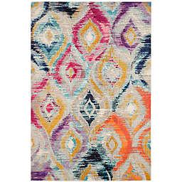 Safavieh Monaco Ogee 6-Foot 7-Inch x 9-Foot 2-Inch Multicolor Area Rug