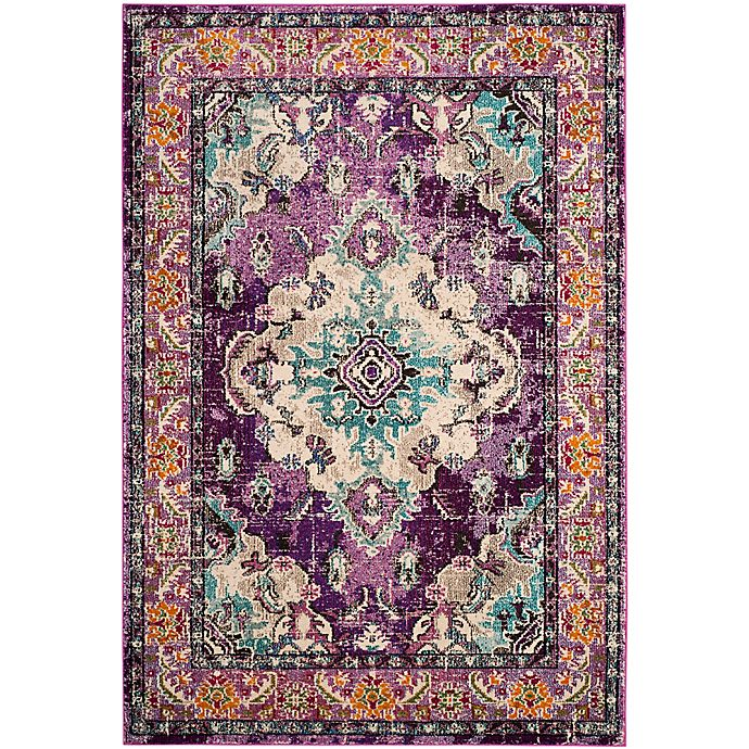 Alternate image 1 for Safavieh Monaco Vintage Bohemian 2-Foot 2-Inch x 4-Foot Accent Rug in Violet/Light Blue