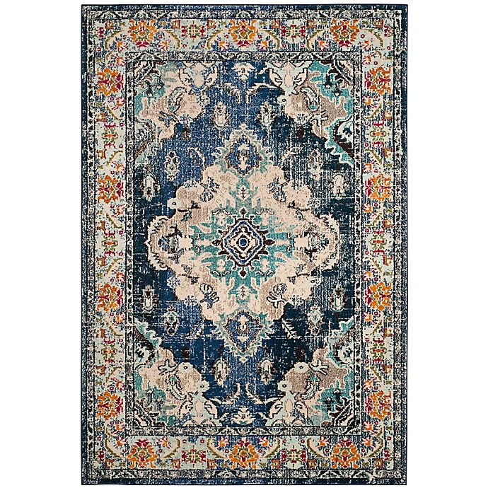 Alternate image 1 for Safavieh Monaco Vintage Bohemian 2'2 x 4' Accent Rug in Navy/Light Blue