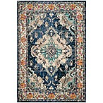 Safavieh Monaco Vintage Bohemian 3' x 5' Area Rug in Navy/Light Blue