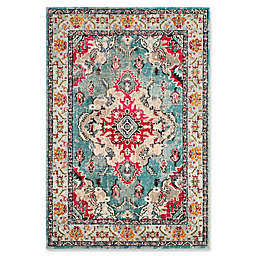 Safavieh Monaco Vintage Bohemian 9-Foot x 12-Foot Area Rug in Orange/Light Blue