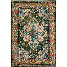 Safavieh Monaco Vintage Bohemian 6-Foot 7-Inch x 9-Foot 2-Inch Area Rug in Green/Light Blue