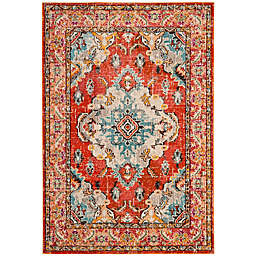Safavieh Monaco Vintage Bohemian 6-Foot 7-Inch x 9-Foot 2-Inch Area Rug in Orange/Light Blue