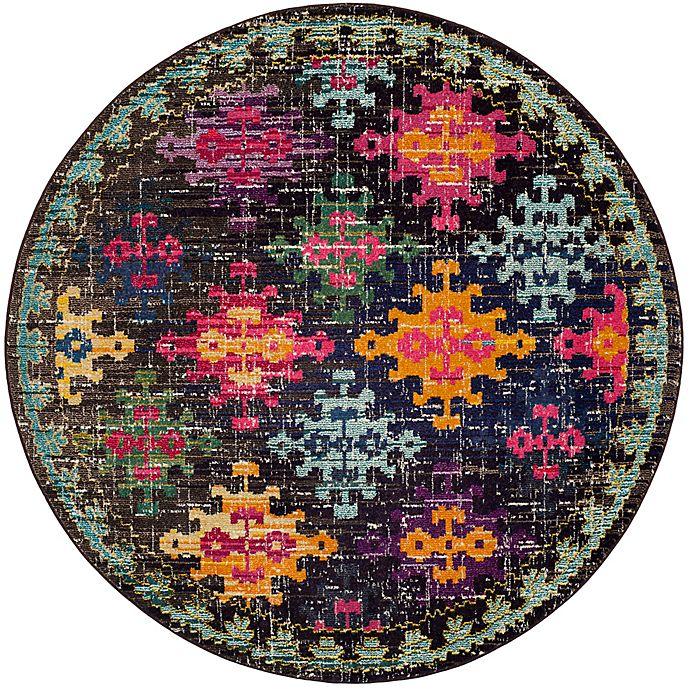 Alternate image 1 for Safavieh Monaco Patchwork 6-Foot 7-Inch Round Multicolor Area Rug