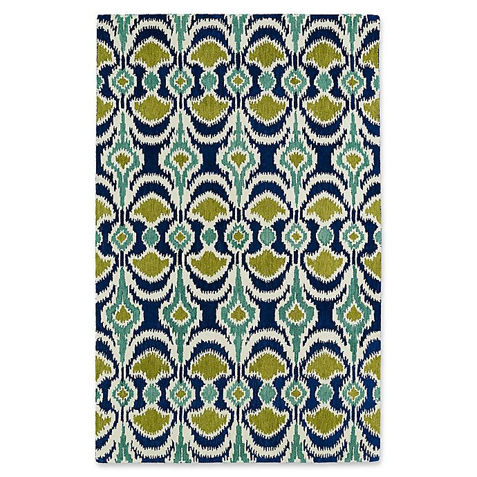 Alternate image 1 for Kaleen Global Inspirations Leon Ikat 9-Foot x 12-Foot Area Rug in Blue