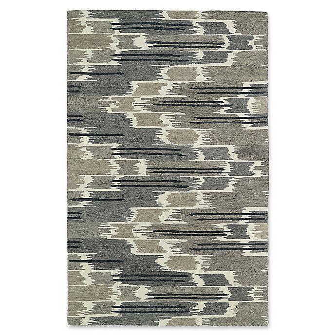 Alternate image 1 for Kaleen Global Inspirations Watercolor Ikat 9-Foot x 12-Foot Area Rug in Grey