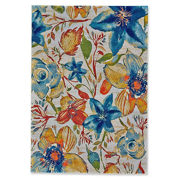 Alternate image 1 for Feizy Cassia Pastel Floral 2-Foot 10-Inch x 7-Foot 10-Inch Runner