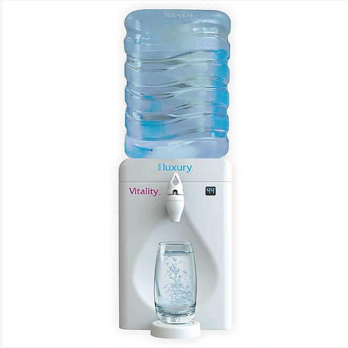 Alternate image 1 for Little Luxury® Vitality 2.15-Gallon Mini Water Cooler with Vitality Filter in White