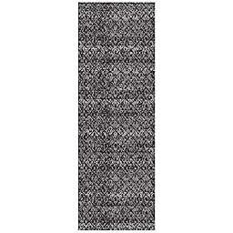 Feizy Settat Ikat 2-Foot 10-Inch x 7-Foot 10-Inch Area Rug in Black/Dark Grey