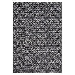 Feizy Settat Ikat Rug in Black/Dark Grey