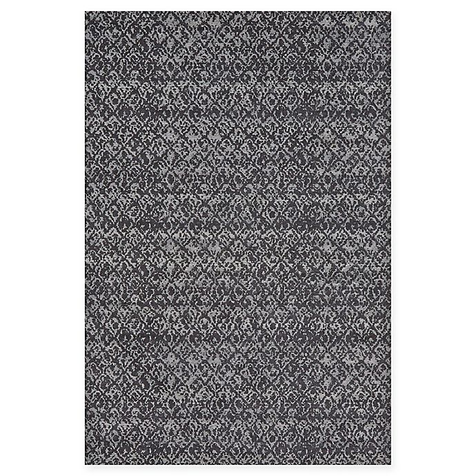 Alternate image 1 for Feizy Settat Ikat Rug in Black/Dark Grey