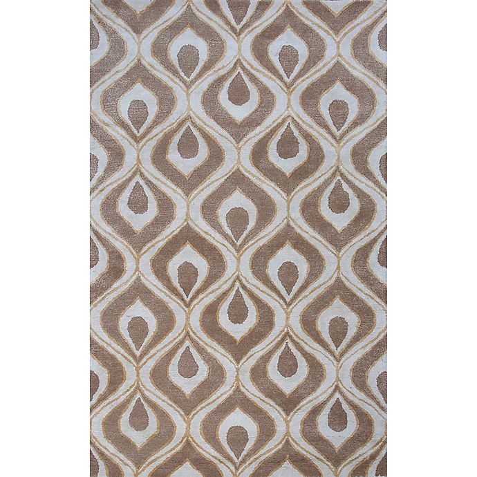 Alternate image 1 for KAS Bob Mackie 3-Foot 3-Inch x 5-Foot 3-Inch Eye of Peacock Accent Rug in Beige