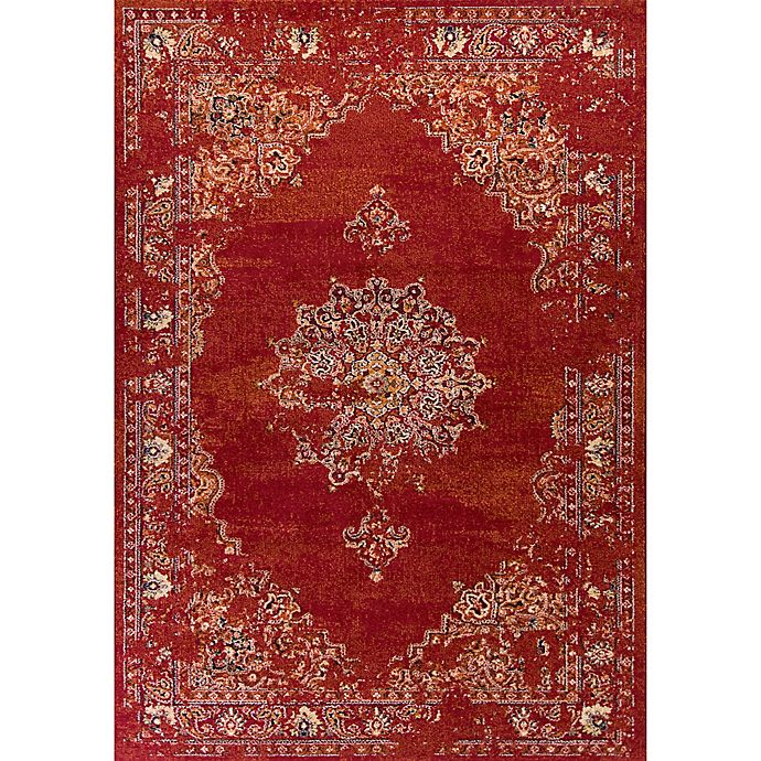 Alternate image 1 for KAS Bob Mackie 3-Foot 3-Inch x 4-Foot 11-Inch Vintage Medallion Accent Rug in Burnt Red