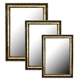 Hitchcock-Butterfield Tibetan Silver-Aged Wall Mirror in Gold