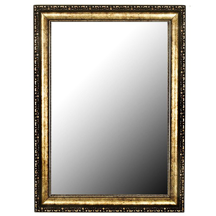 buy hitchcock butterfield tibetan silver aged 30 inch x 42 inch wall mirror in gold from bed. Black Bedroom Furniture Sets. Home Design Ideas