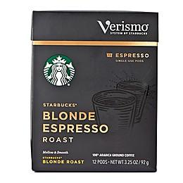 Starbucks® Verismo™ 12-Count Blonde Espresso Roast Espresso Pods