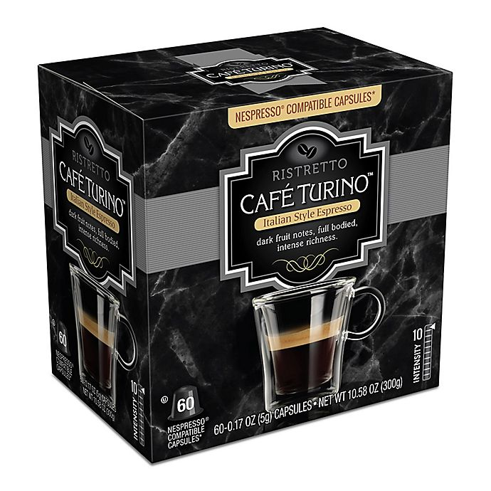 Alternate image 1 for Cafe Turino™ 60-Count Ristretto Espresso Capsules