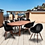 Part of the Amazonia Charlotte 9-Piece Outdoor Patio Dining Set in Black/Natural