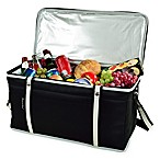 Picnic at Ascot Bold Collection 72-Can Folding Cooler in Black