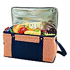 Picnic at Ascot Diamond Collection 72-Can Folding Cooler in Orange/Navy