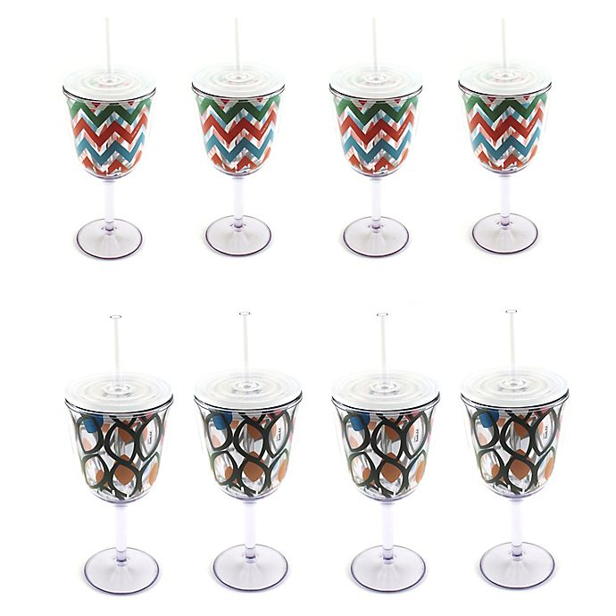 Alternate image 1 for BergHOFF® Acrylic Wine Glasses (Set of 8)