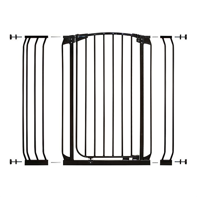 Alternate image 1 for Dreambaby® Chelsea Tall Auto Close Stay Open Security Gate Value Pack in Black