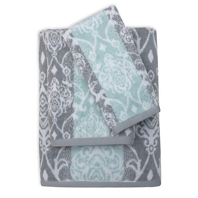 Watercolor Damask Bath Towel Collection Bed Bath Amp Beyond
