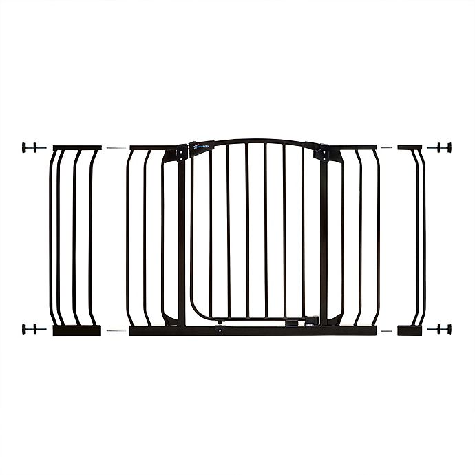 Alternate image 1 for Dreambaby® Chelsea Hallway Auto Close Stay Open Security Gate Value Pack in Black