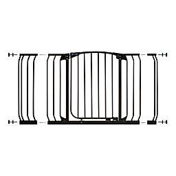 Dreambaby® Chelsea Hallway Auto Close Stay Open Security Gate Value Pack in Black