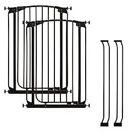 Dreambaby® Chelsea Tall Auto Close Stay Open Security Gate in Black (Set of 2)