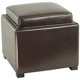 Safavieh Bobbi Tray Storage Ottoman in Brown