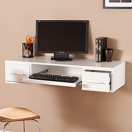 Southern Enterprises Simon Wall Mount Desk in White