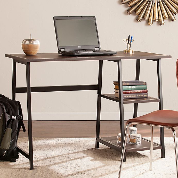 Southern Enterprises Austin Writing Desk In Chocolate Brown