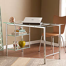 Southern Enterprises Oslo Desk in Chrome