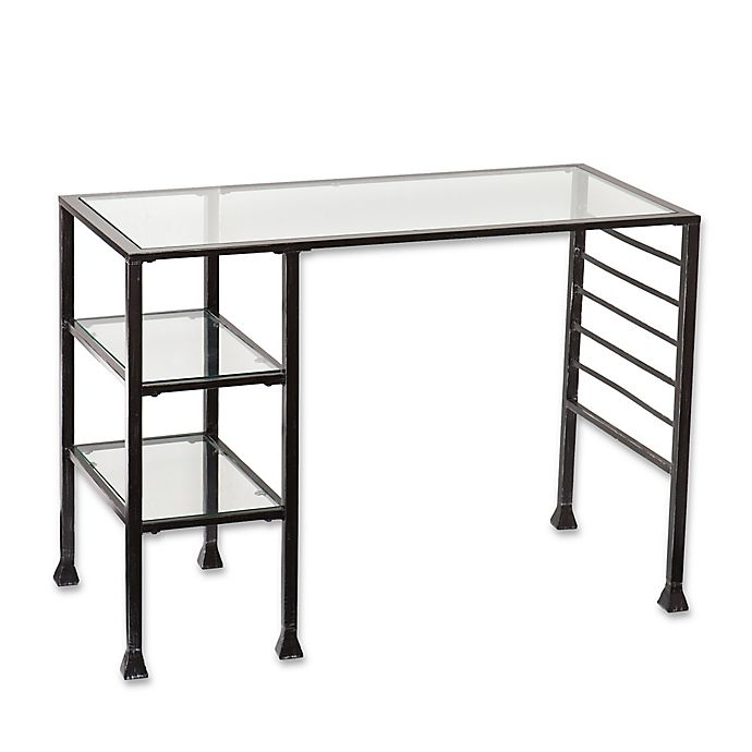 Alternate image 1 for Southern Enterprises Writing Desk in Black
