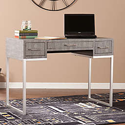 Southern Enterprises Carabelle Reptile Desk in Grey