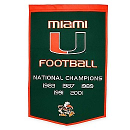 University of Miami National Champions Dynasty Banner