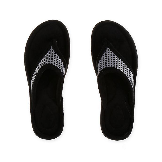 Alternate image 1 for Therapedic® Medium Women's Thong Slipper in Grey