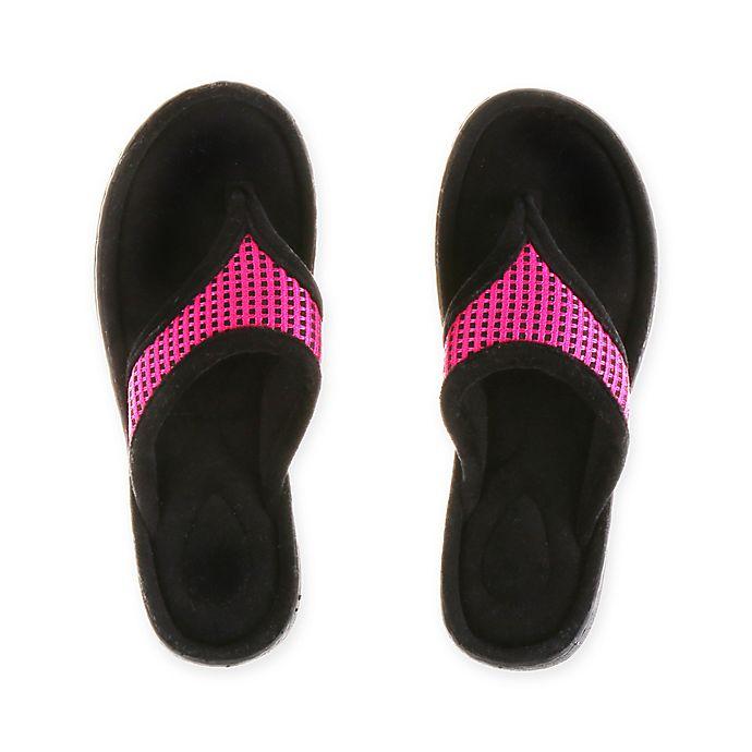 Alternate image 1 for Therapedic® Medium Women's Thong Slipper in Pink