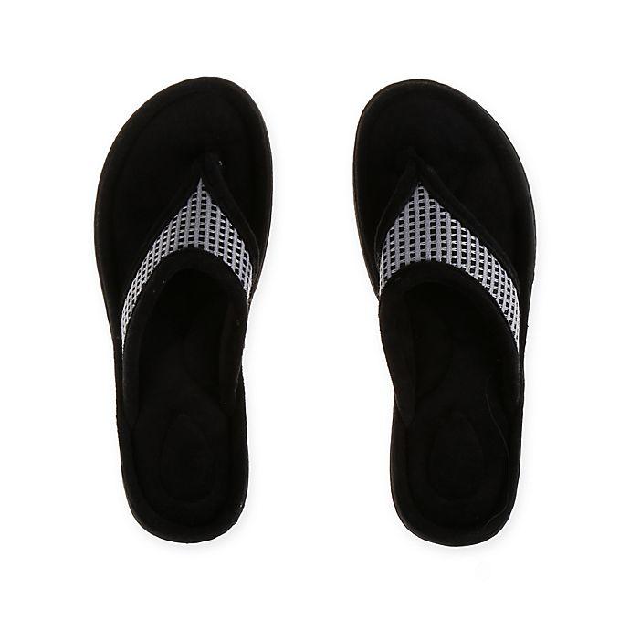 Alternate image 1 for Therapedic® Large Women's Thong Slipper in Grey